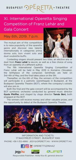 picture XI. Nemzetközi Lehár Ferenc Operett Énekverseny