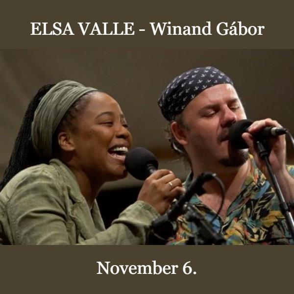 Váci jazz klub Elsa Valle-Winand Gábor duó