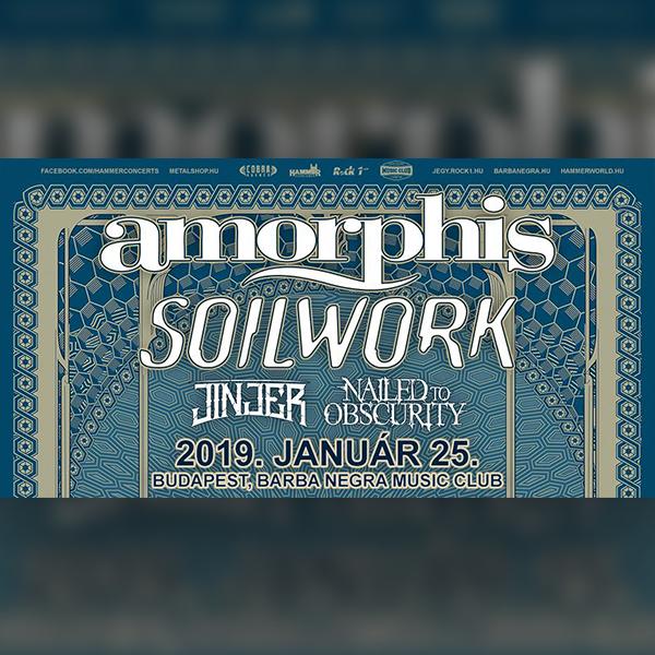 AMORPHIS, SOILWORK, Jinjer, Nailed To Obsurity