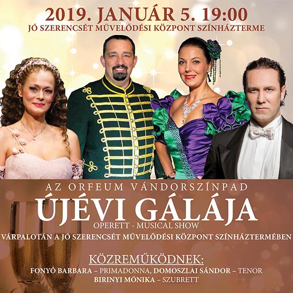 Újévi Operett-Musical Gála Várpalotán