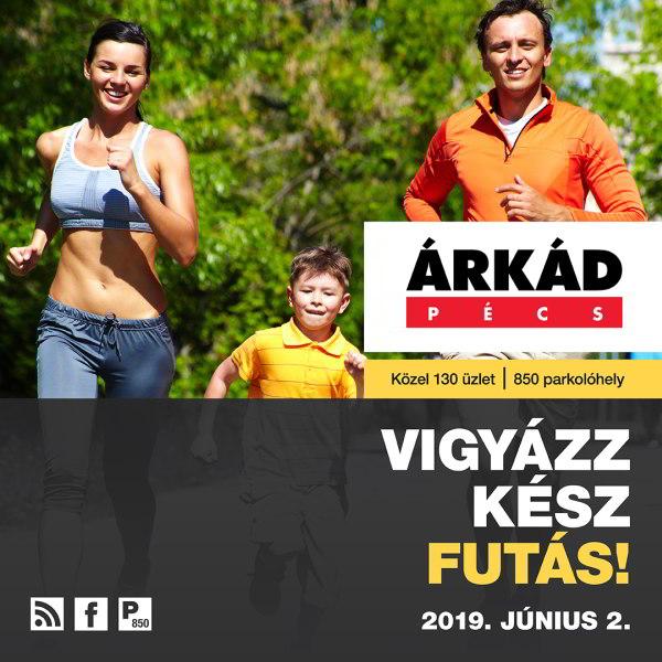 Árkád Pécs Futófesztivál 2019